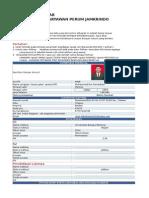 Draft Form Pelamar