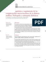 Protocolo Diagn Stico y Seguimiento de Las Complicaciones Microvasculares de La Diabetes Mellitus Nefropat a y Retinopat a Diab Ticas 2012 Medicine Pr