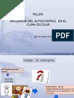 Autocontrol y Clima Escolar