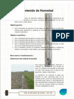 informe 2 contenido de humedad en el suelo  + ejercicio