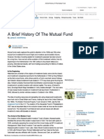 A Brief History of the Mutual Fund