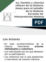 Actores, Fuentes y Ciencias Auxiliares de La Historia