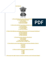 Indian Constitution Gk MCQ