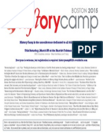 HistoryCamp 2015, the history unconference - flyer with speakers