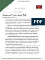 Dangerous Trains, Aging Rails - NYTimes