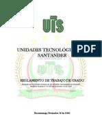 Reglamento de Trabajo Grado UTS