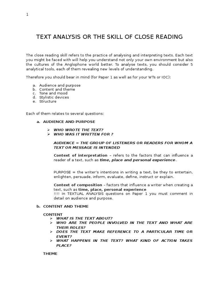 Text Analysis 123 Linguistics Epistemology