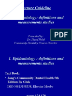 1. Presentation D-7-411 Cden Epidemiology- Definisions and Mesurments Studies
