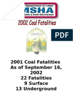 2002 Coal Fatalilties