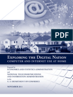 Exploring the Digital Nation Computer and Internet Use at Home 11092011
