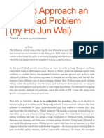 How to Approach an Olympiad Problem (by Ho Jun Wei) _ My Two Cents