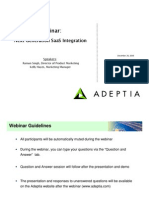 Adeptia Webinar SaaS Integration