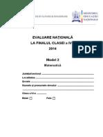En IV 2014 Matematica Model2 30254600