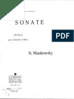 Miaskowsky Cello Sonata N1