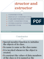 Constructor and Destructors