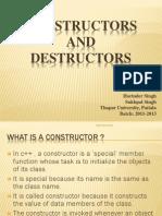 Constructors and Destructor