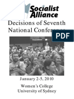 Decisions of Seventh National Conference