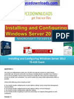 Installing and Configuring Windows Server 2012 70-410 Exam Questions Answers