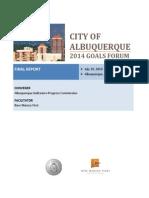ABQ Goals Forum Final Report 8-7-14