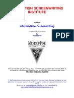 Intermediate Screenwriting - Alex Epstein