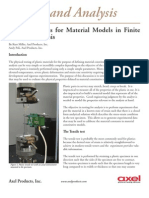 Testing Plastics for Finite Element Analysis