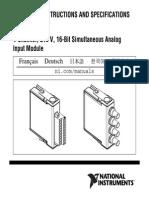 NI 9215 Operating Instructions