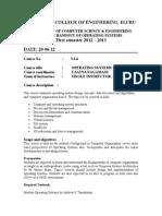 OS Course Handout 2012 13