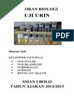Laporan Biologi Uji Urine