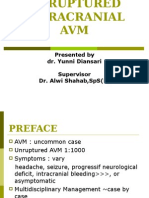 Ppt Unruptured Intracranial Avm