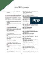 List of IEC Standards