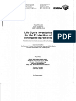 Life Cycle Inventories for the Production of Detergent Ingredients