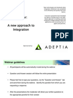 Adeptia Webinar New Approach to Information Integration