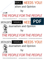 BurqueMedia NEEDS YOU Flyer