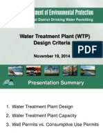 Water Treatment Plant Design Criteria