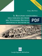 Il Recupero Sostenibile Dell'Edilizia Dei Primi Decenni Del Ventesimo Secolo Mediante Materiali e Tecniche Innovative