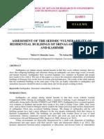 Assessment of the Seismic Vulnerability of Residential Buildings of Srinagar City Jammu and Kashmir