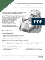 science reading worksheets year 4 - u10.pdf