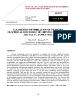 Parametric Optimization of Near Dry Electrical Discharge Machining Process for Aisi Sae D-2 Tool