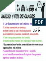 INICIO Y FIN DE CLASE