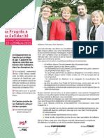 Profession de Foi de Michèle Pham-Baranne et Michaël Pinault pour Tarbes3