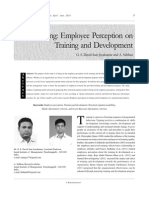 Modelling Employee Perception on Training and Development
