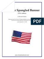 The Star Spangled Banner (in Eb) for Alto Saxophone & Piano
