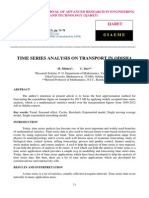 Time Series Analysis on Transport in Odisha