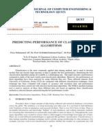 Predicting Performance of Classification Algorithms