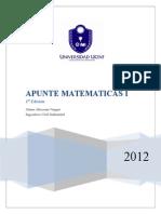 Apunte Matematicas i