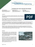 Experimental study of Deep Soil Mixing