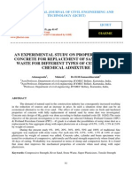 An Experimental Study on Properties of the Concrete for Replacement of Sand by Stone Waste for Different Types of Cement With Chemical Admixture