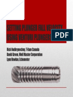 Setting Plunger Fall Velocity u - Rick Nadkrynechny