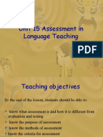 Unit 15 Assessment in Language Teaching