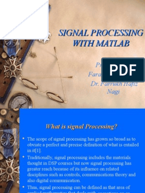 Signal-Processing-in-Matlab-Present ppt | Digital Signal